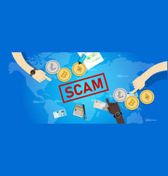 Cryptocurrency fraud investment scam crypto vector