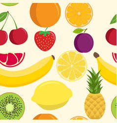cute fruit mix seamless pattern seamless vector image