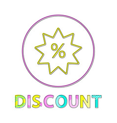 discount linear outline style vector image