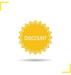 Discount yellow sticker icon vector