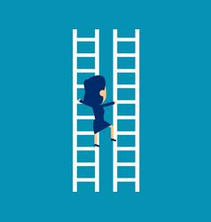 Exchange ladder direction business career vector