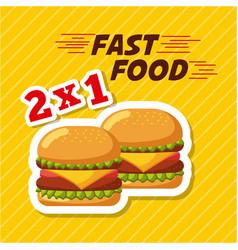 fast food restaurant menu brochure vector image
