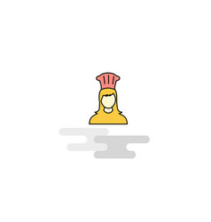 flat chef icon vector image