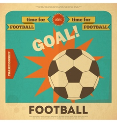 football placard vector image
