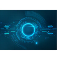 Futuristic blue technology background vector