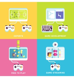 Game related concepts vector