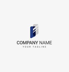 glass logo template vector image