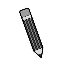 grey pencil cartoon vector image