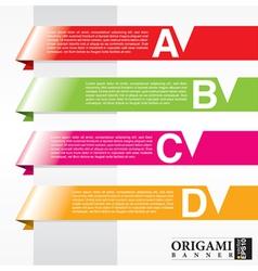 Horizontal origami ribbon banners EPS10 vector image