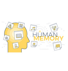 human memory concept vector image