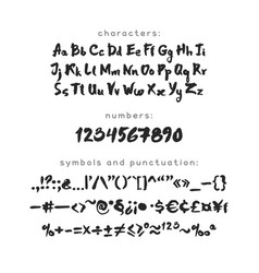 Ink and brush latin script vector