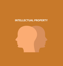 intellectual property concept with human head vector image