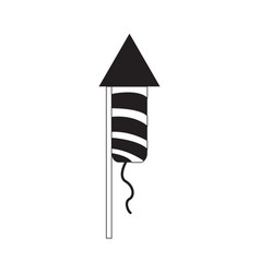 isolated firework rocket icon vector image