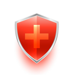 Isolated medical shield protection symbol with vector