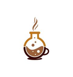 lab coffee logo icon design vector image