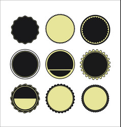 labels round shapes set vector image