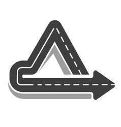 Looping triangular tarred highway vector