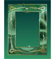 malachite border vector image