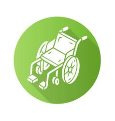 manual wheelchair flat design long shadow glyph vector image