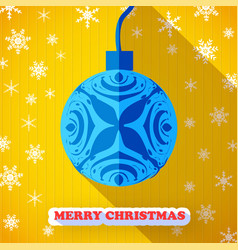 merry christmas postcard vector image