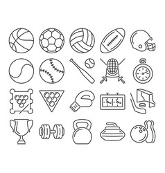 modern line style icons sport vector image