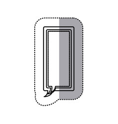Monochrome contour sticker of large rectangle vector