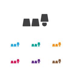 Of gambling symbol on thimbles vector