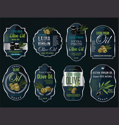 olive oil retro vintage background collection vector image