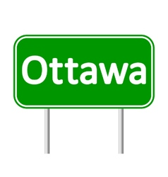 Ottawa road sign vector