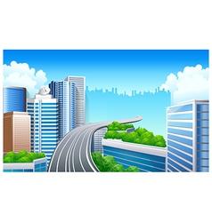 Overpass in city vector