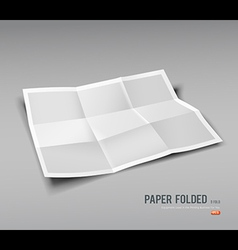 Paper Folded nine fold for business design vector