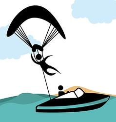 paragliding sport vector image