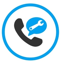 Phone Service Message Rounded Icon vector