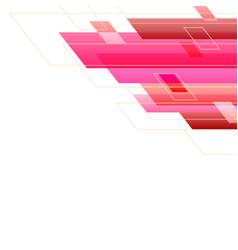pink tone abstract square technology white vector image