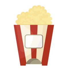 popcorn icon movie and entertainment fast snack vector image