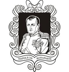 Portrait of Napoleon Bonaparte vector image