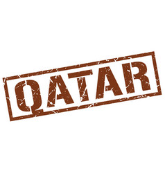 Qatar brown square stamp vector