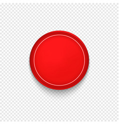 Red button badge or banner vector
