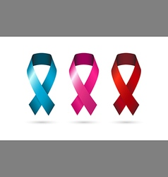 Ribbons symbol awareness icons vector image