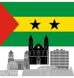 Sao Tome and Principe vector image