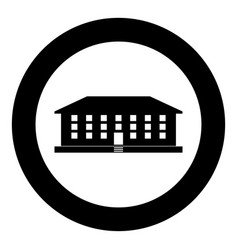 School building icon black color simple image vector