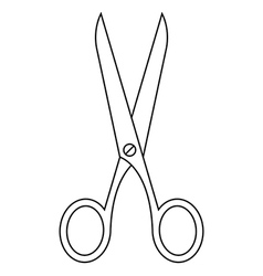 Scissors symbol vector image