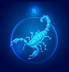 scorpio zodiac sign icons vector image