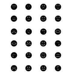 Smiley icons 4 vector