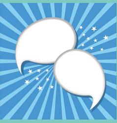 speech bubbles for dialogue advertising vector image