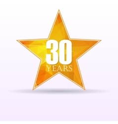 Star background anniversary 30 vector image