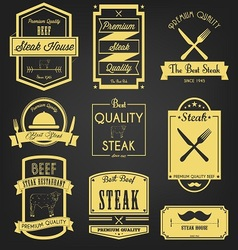 Steak Premium Label Design vector image