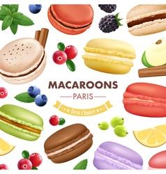 Sweet Macaroon Goods Background vector image
