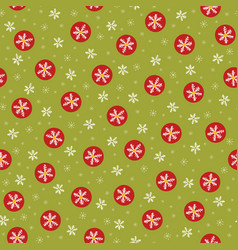 traditional christmas snowflakes vector image