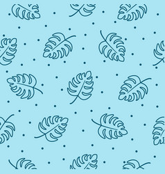 trendy seamless tropical pattern with leaves vector image